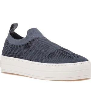 J/SLIDES Hilo Blue Knit Platform Sneakers
